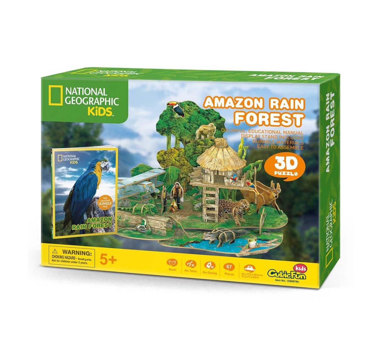 Cubic Fun | Cubicfun National Geographic Amazon Rainforest Puzzles for Kids Age 5Y+