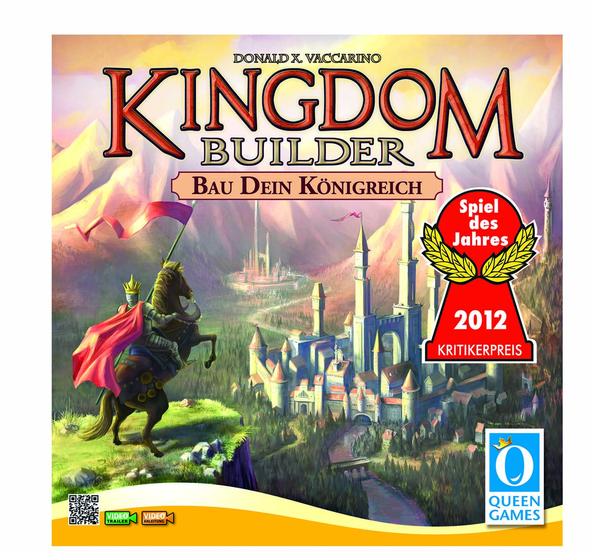 Queen Games   Queen Games Kingdom Builder Board Games for Kids Age 8Y+