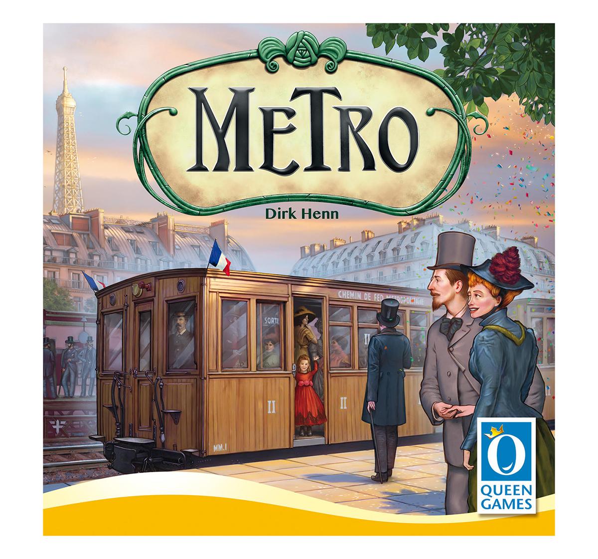 Queen Games   Queen Games Metro Board Games for Kids age 8Y+