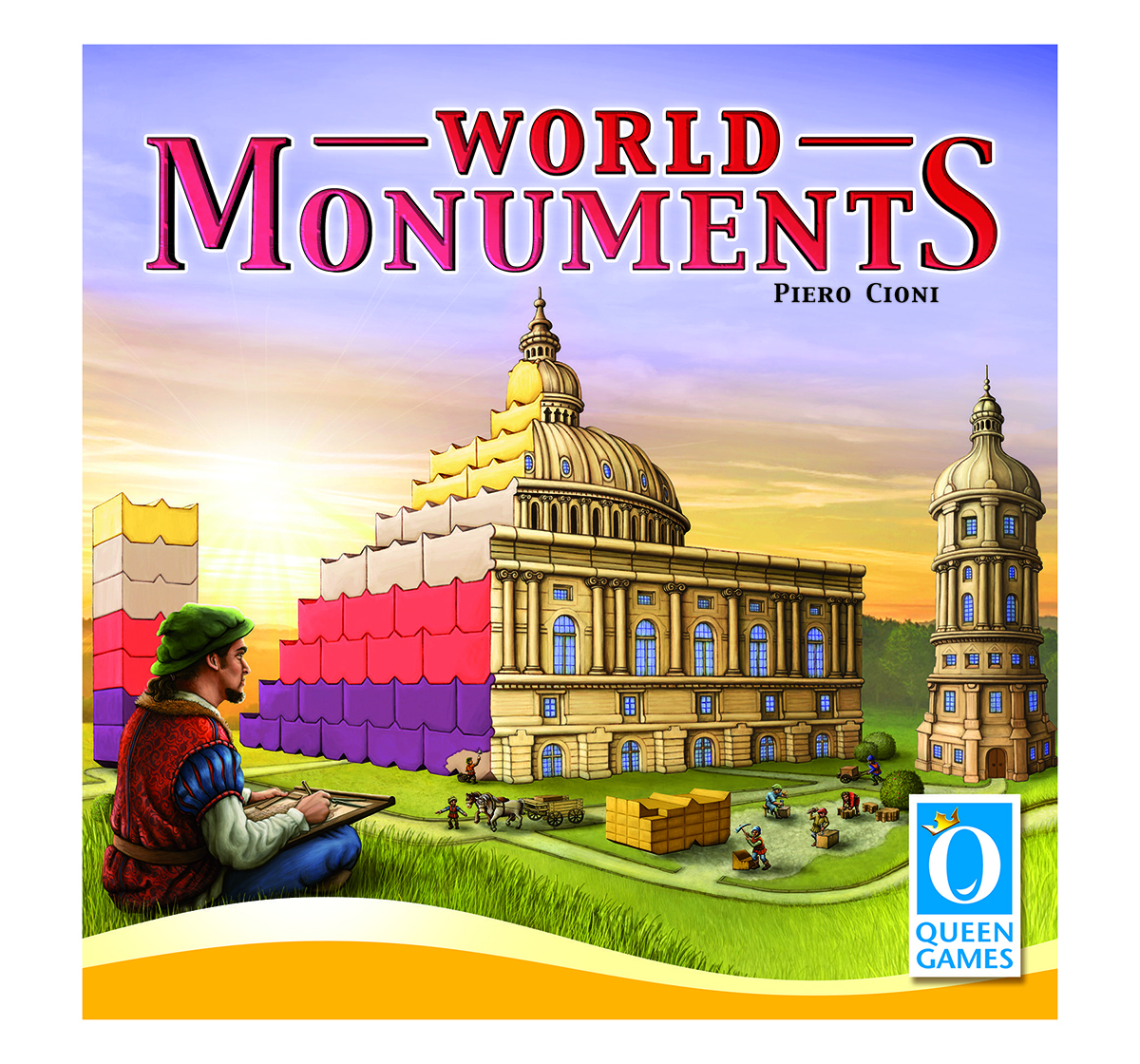 Queen Games   Queen Games World Monuments Board Games for Kids age 8Y+