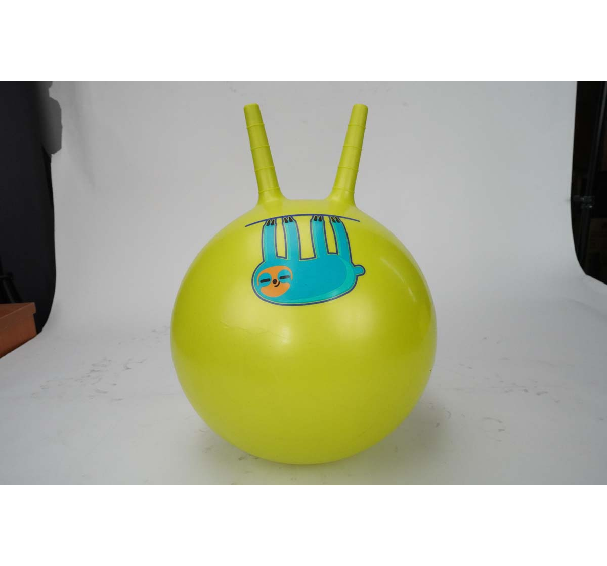 Zoozi | Zoozi Bouncy Ride-On Jumping Ball Sloth 40Cm Ball Sports & Accessories for Kids Age 3Y+ (Neon Green)