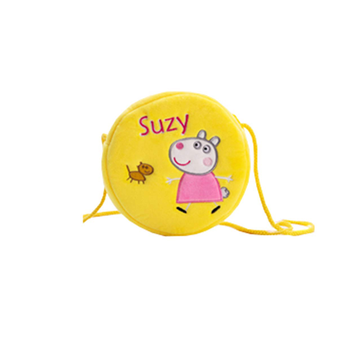 Peppa Pig | Peppa Pig Suzy Sheep Round Sling Bag Plush Accessory for Girls age 3Y+ - 16 Cm (Yellow)