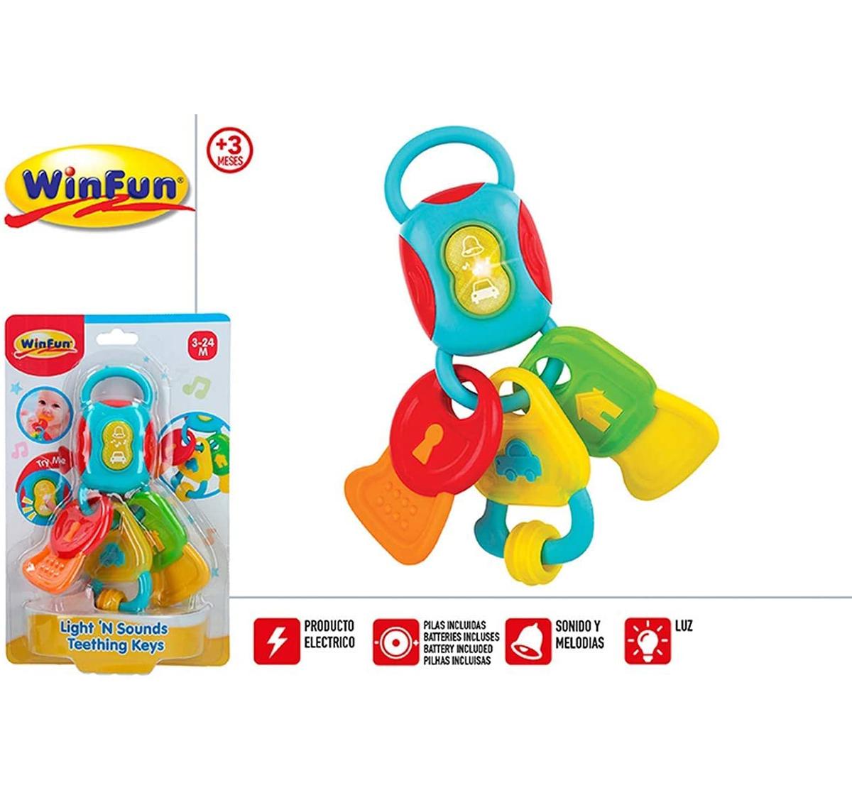 WinFun | Winfun - Light & Sounds Teething Keys New Born for Kids age 3M+