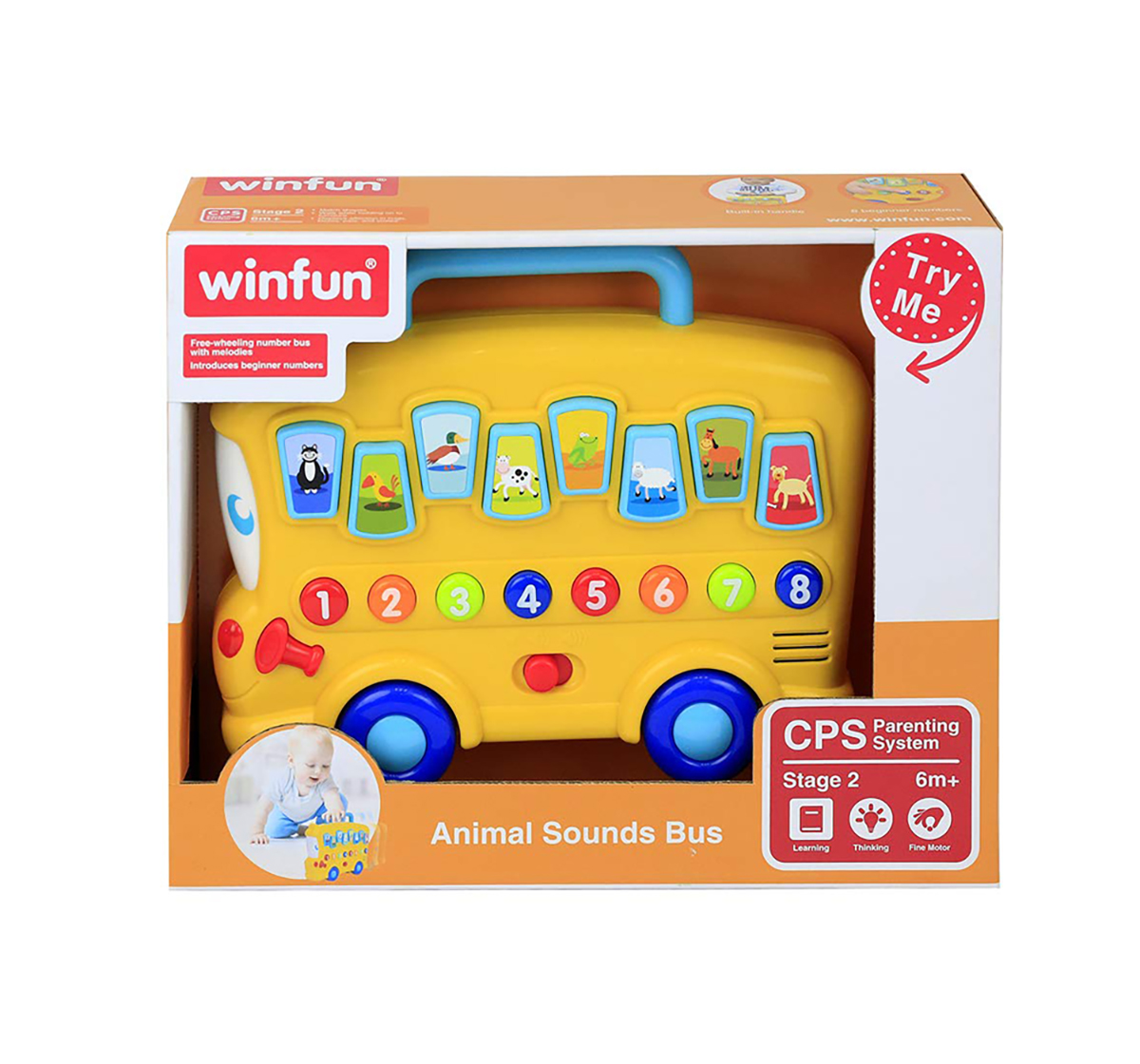 WinFun |  Winfun - Animal Sounds Bus Learning Toys for Kids age 6M+