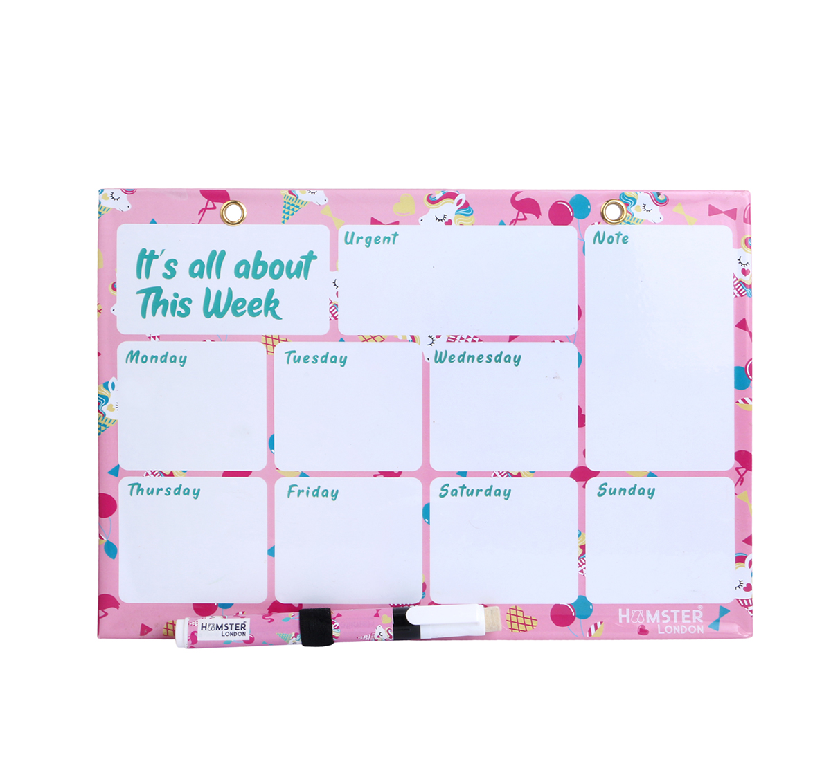 Hamster London   Hamster London Cupcake Magnetic Writing Board for Girls age 3Y+