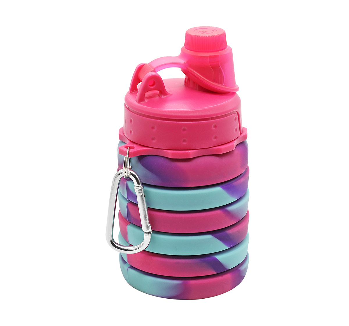 Hamster London   Hamster London Bendable Bottle with Carabiner Clip for Kids age 3Y+ (Pink)