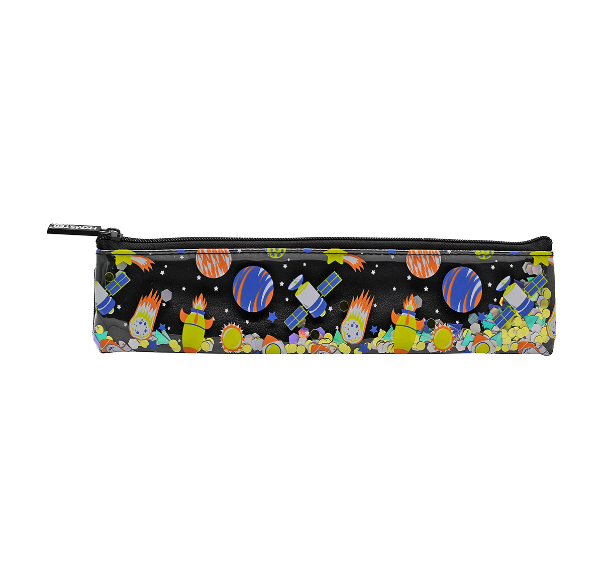 Hamster London | Hamster London Space Pencil Pouch with Book Band for Kids age 3Y+ (Black)