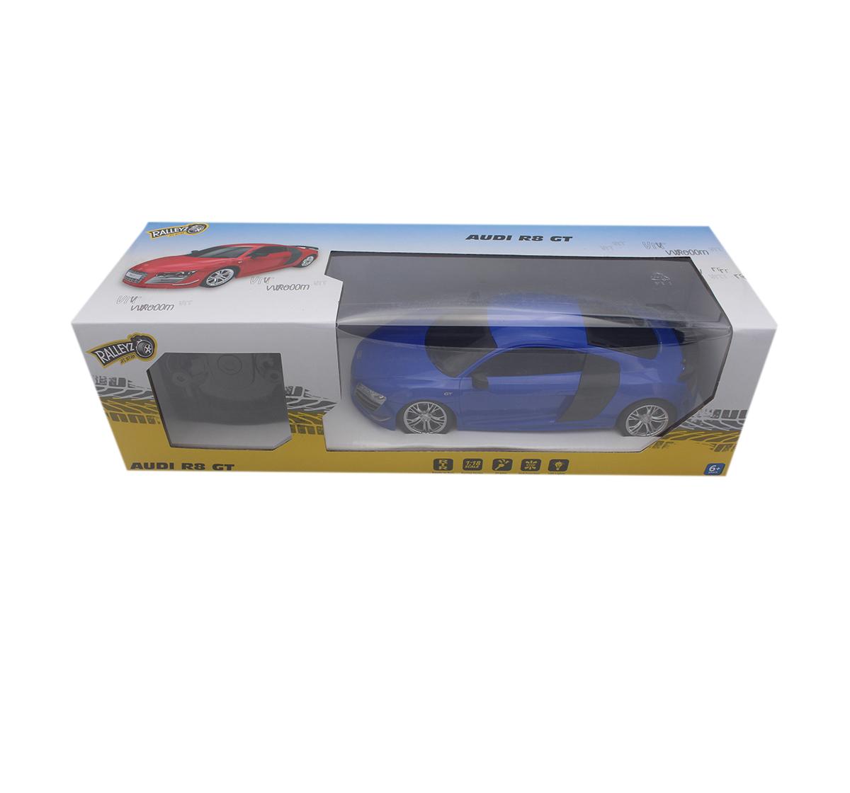 Ralleyz   Ralleyz 1:18 27Mhz Audi R8 Remote Control Car Blue, 6Y+