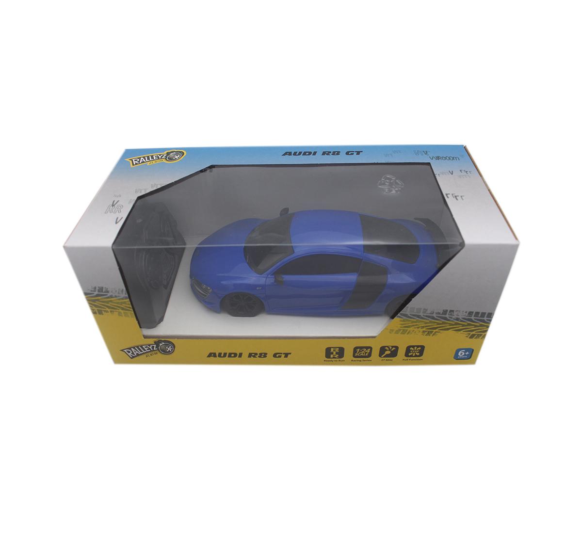 Ralleyz   Ralleyz 1:24 27Mhz Audi R8 Gt Remote Control Car Blue, 6Y+