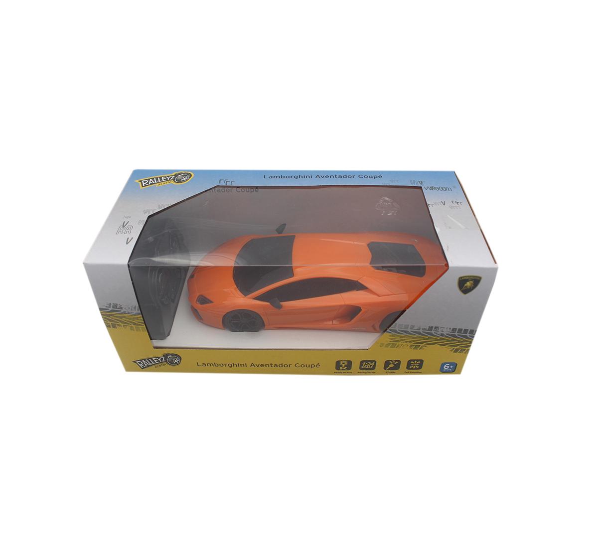 Ralleyz   Ralleyz 1:24 27Mhz Lamborghini Remote Control Car Orange, 6Y+