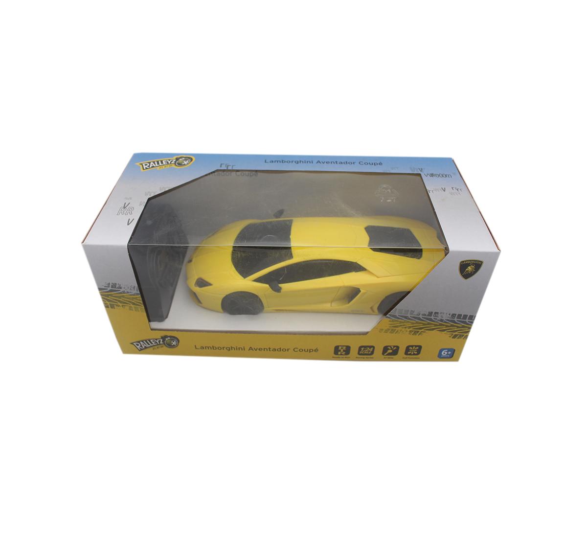 Ralleyz | Ralleyz 1:24 27Mhz Lamborghini Remote Control Car Yellow, 6Y+