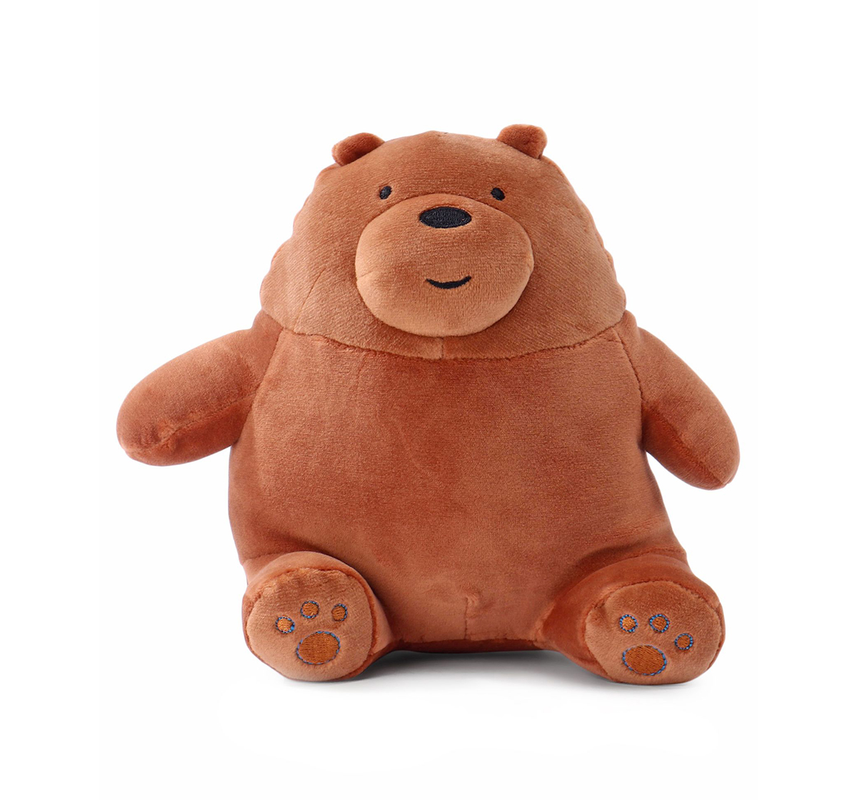We Bare Bears | We Bare Bears We Bare Bear Sitting Grizzly Bear Plush 20 Cm Character Soft Toys for Kids age 1Y+ - 20 Cm (Brown)
