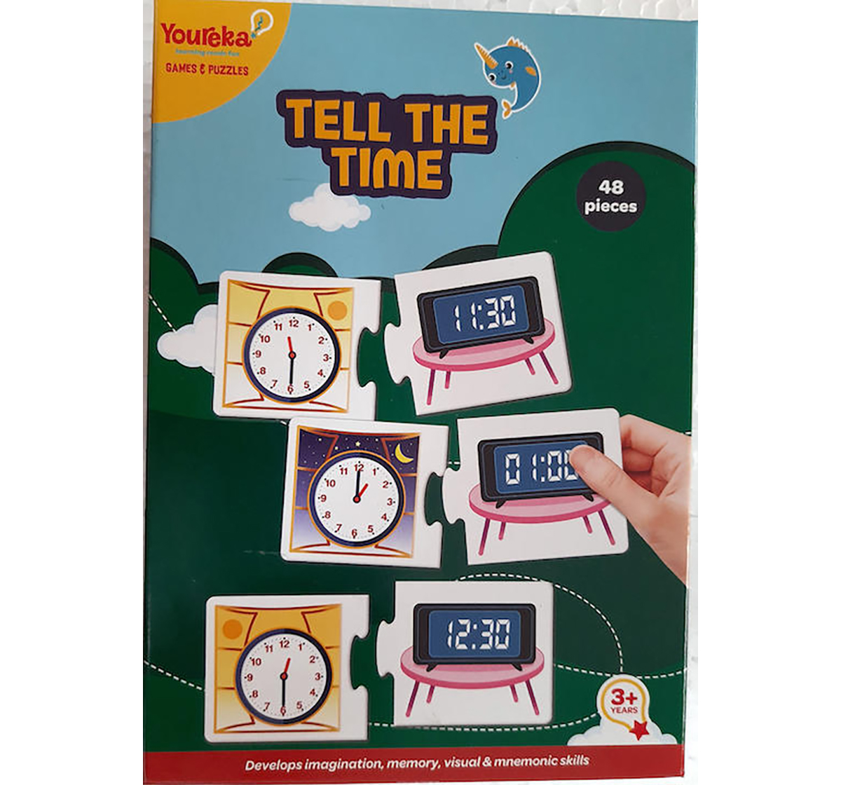 Youreka | Youreka Tell the Time Puzzles for Kids age 3Y+