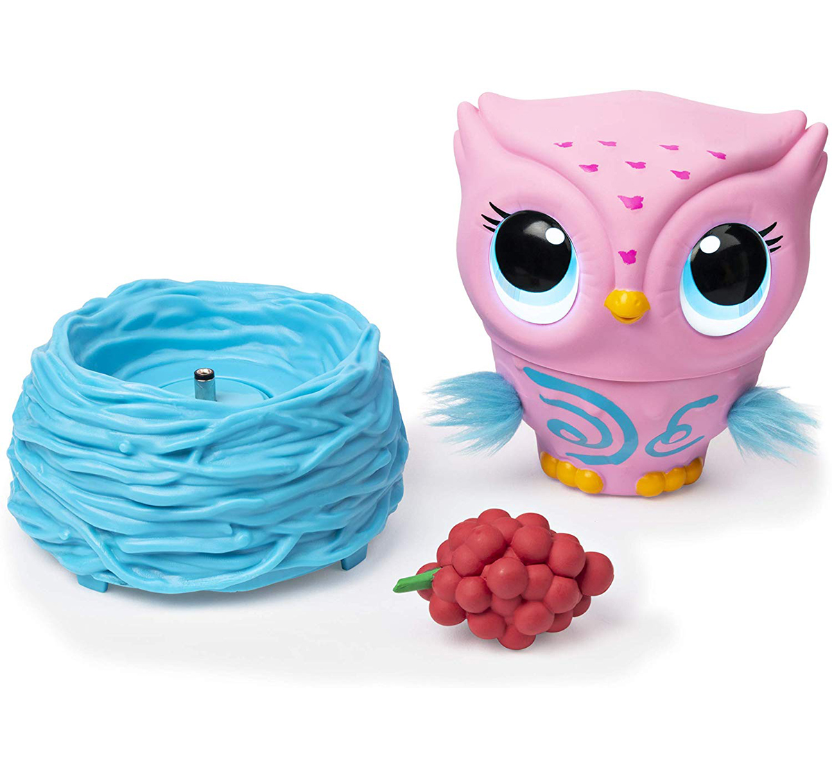 Owleez | Owleez, Flying Baby Owl Interactive Toy with Lights and SoundsCollectible Dolls for Kids age 6Y+ (Pink)