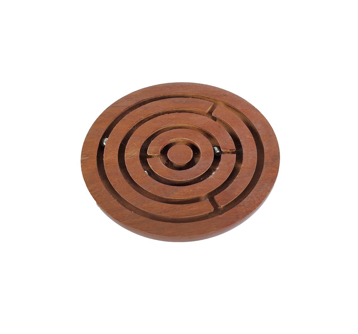 Desi Toys | Desi Toys Labyrinth, Maze, Swirl, Bada Bhool Bhulaiya Board Game for Kids age 5Y+ (Brown)