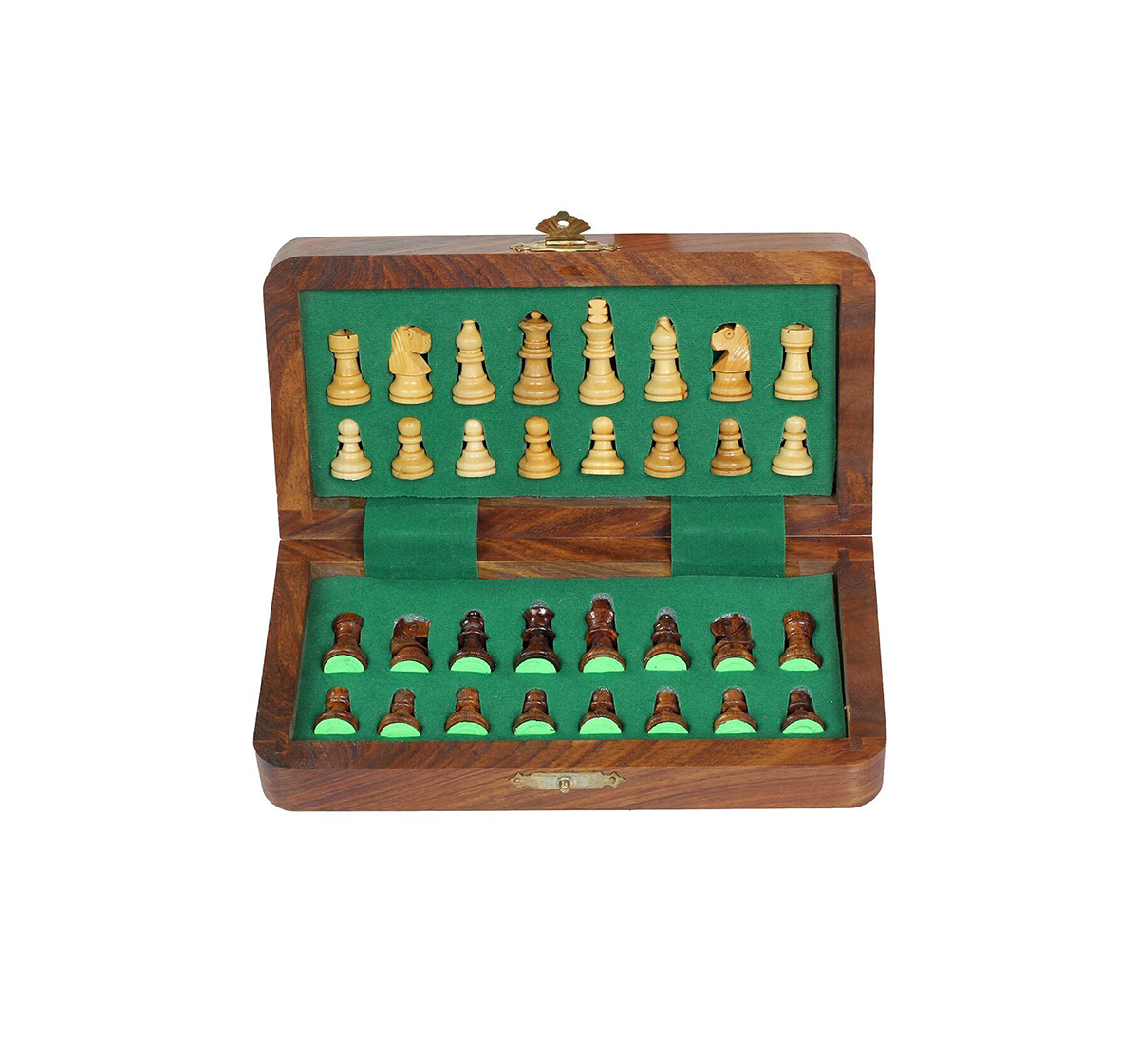 "Desi Toys | Desi Toys Magnetic Folding Chess Set 7"", Chumbak Shatranj Board Game for Kids age 5Y+ (Brown)"