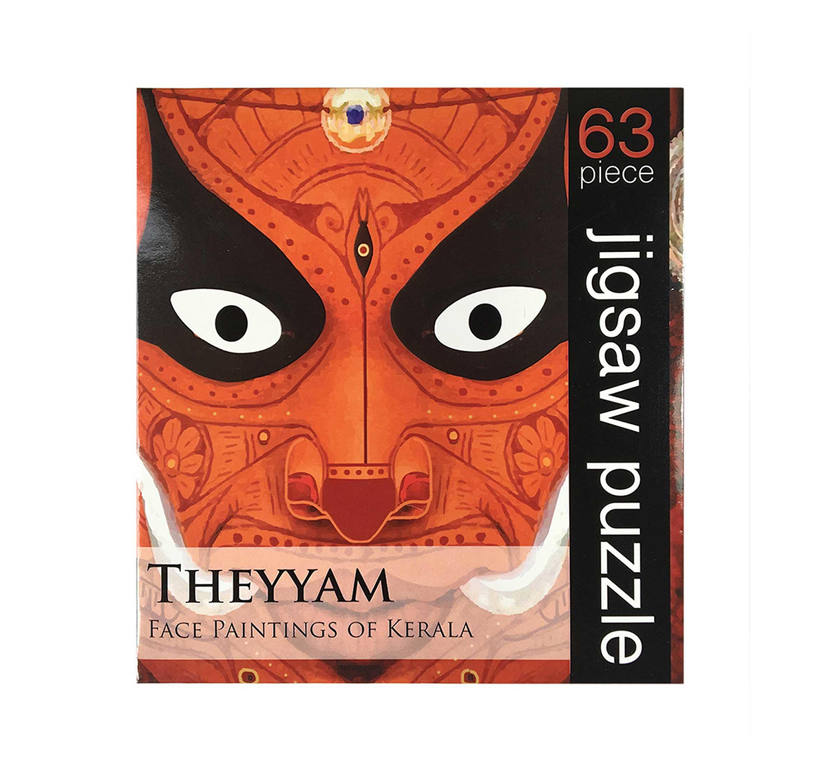Froggmag   Frogg  Theyyam  63Pc Puzzles for Kids age 7Y+ (Red)