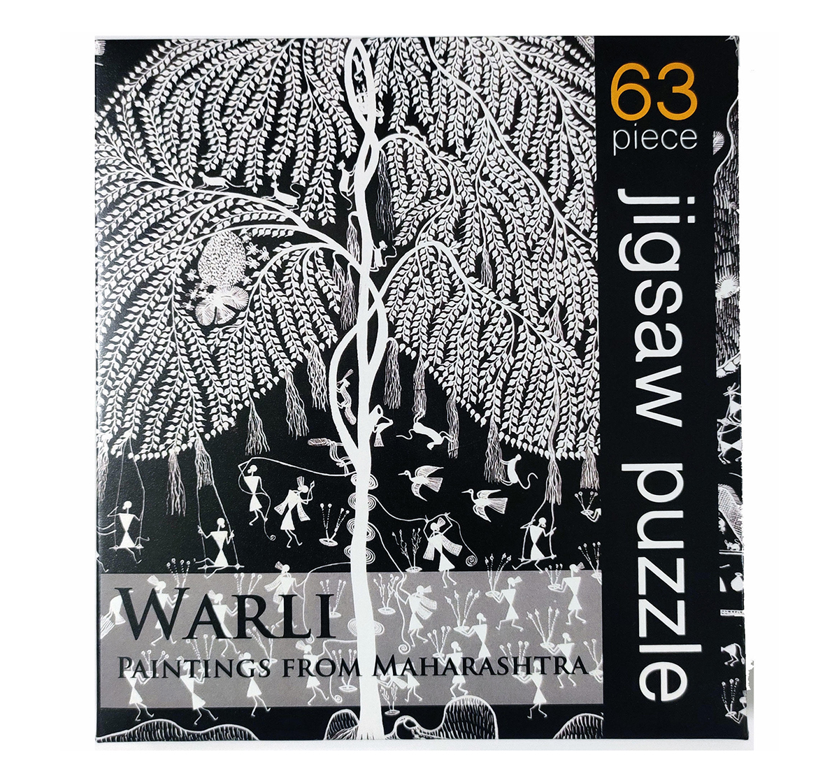 Froggmag | Frogg Warli   63Pc Puzzles for Kids age 7Y+ (Black)