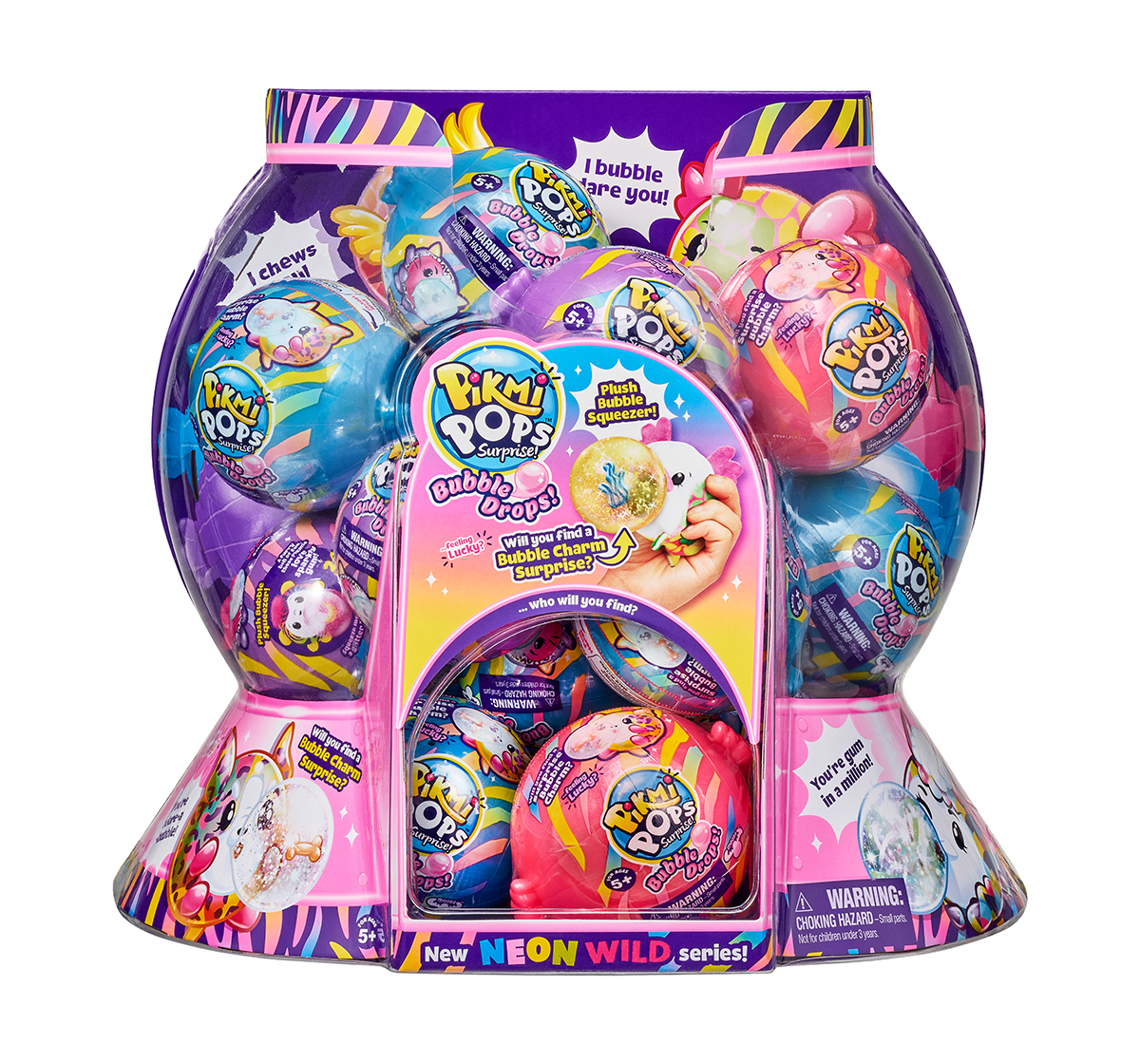 Pikmi Pops | Pikmi Pops Bubble Drop Neon Wild Single Pack Interactive Soft Toys for Girls age 5Y+ - 8.5 Cm