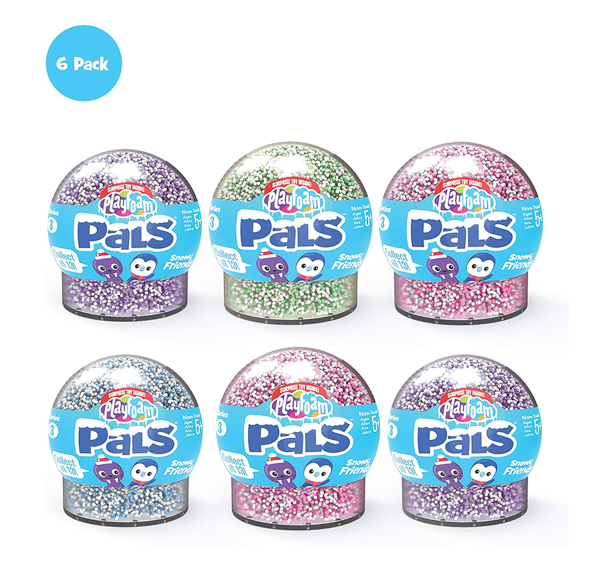 Learning Resources | Learning Resources Playfoam® Pals™ Snowy Friends Series 3 (6 Pack) Sand, Slime & Others for Kids age 10Y+