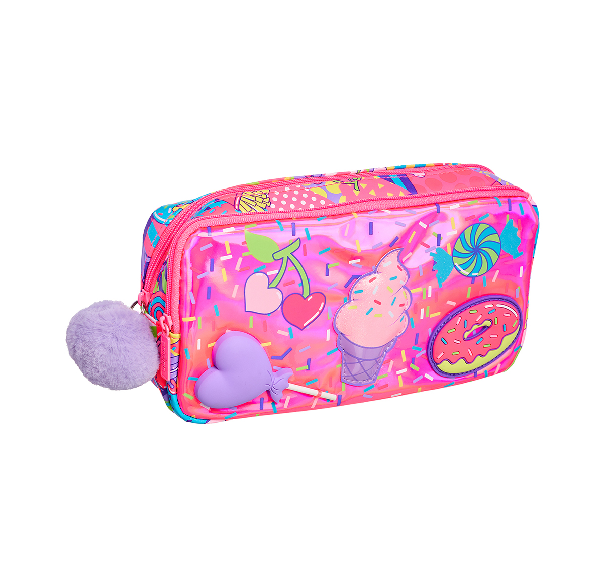 Smiggle | Smiggle Far Away Character Pencil Case - Ice-cream Print Bags for Kids age 3Y+ (Pink)