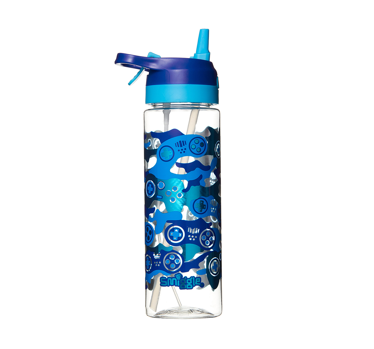 Smiggle | Smiggle Viva Spritz Bottle with Misting Function - Gaming Print Bags for Kids age 3Y+ (Cobalt Blue)