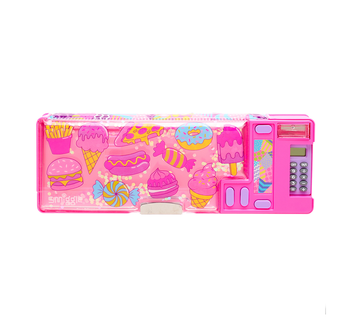 Smiggle | Smiggle Far Away Pop Out Pencil Case - Ice-cream Print Bags for Kids age 6Y+ (Pink)