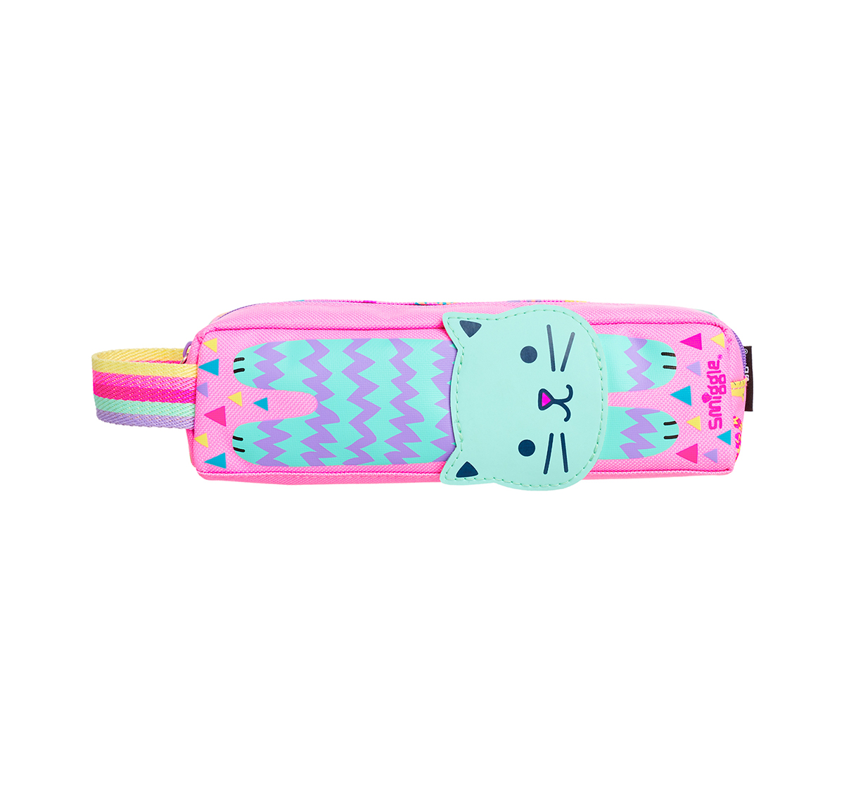 Smiggle | Smiggle Topsy Teeny Tiny Pencil Case - Cat Print Bags for Kids age 3Y+ (Pink)