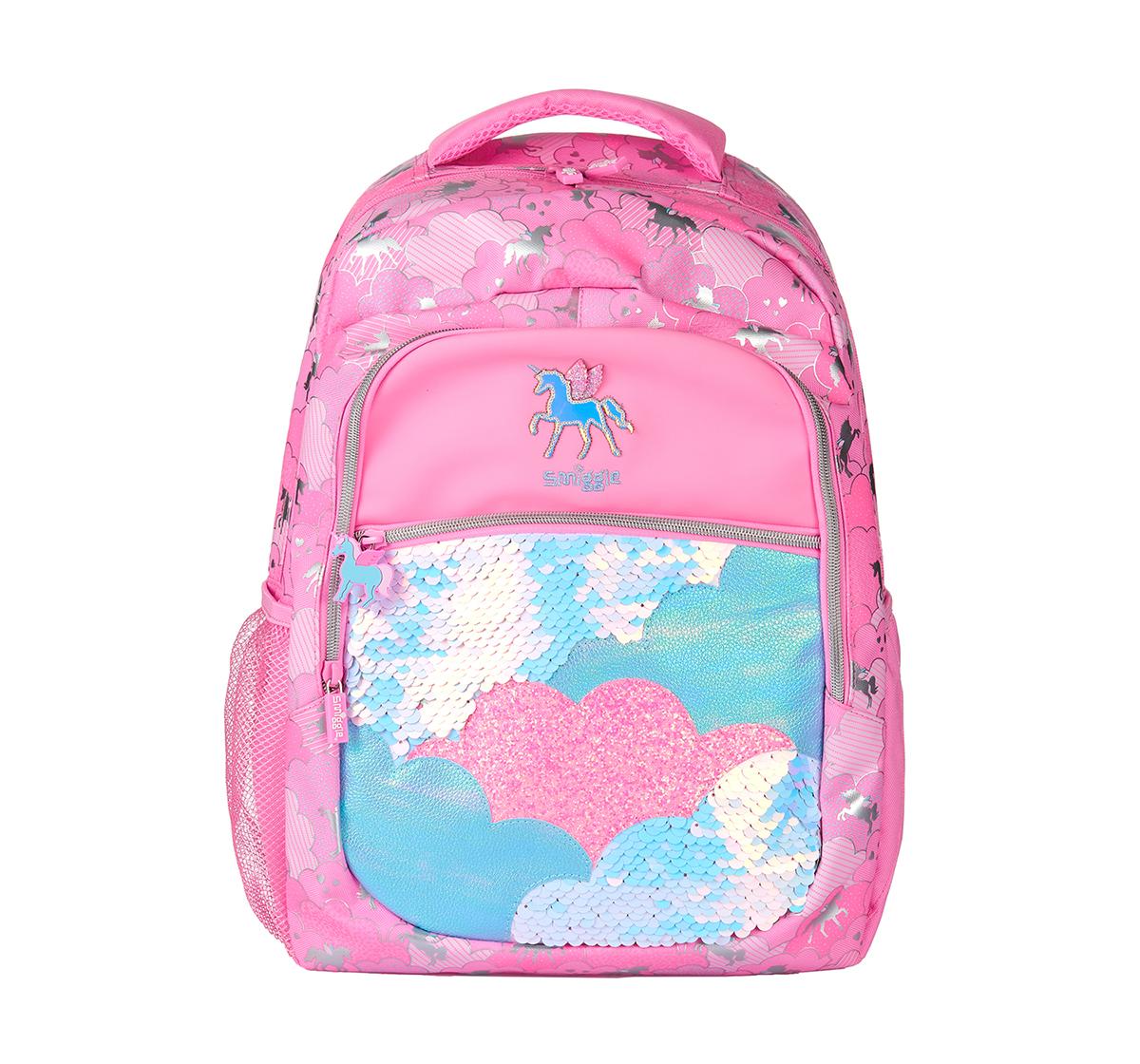 Smiggle   Smiggle Lunar Backpack - Unicorn Print Bags for Kids age 3Y+ (Pink)