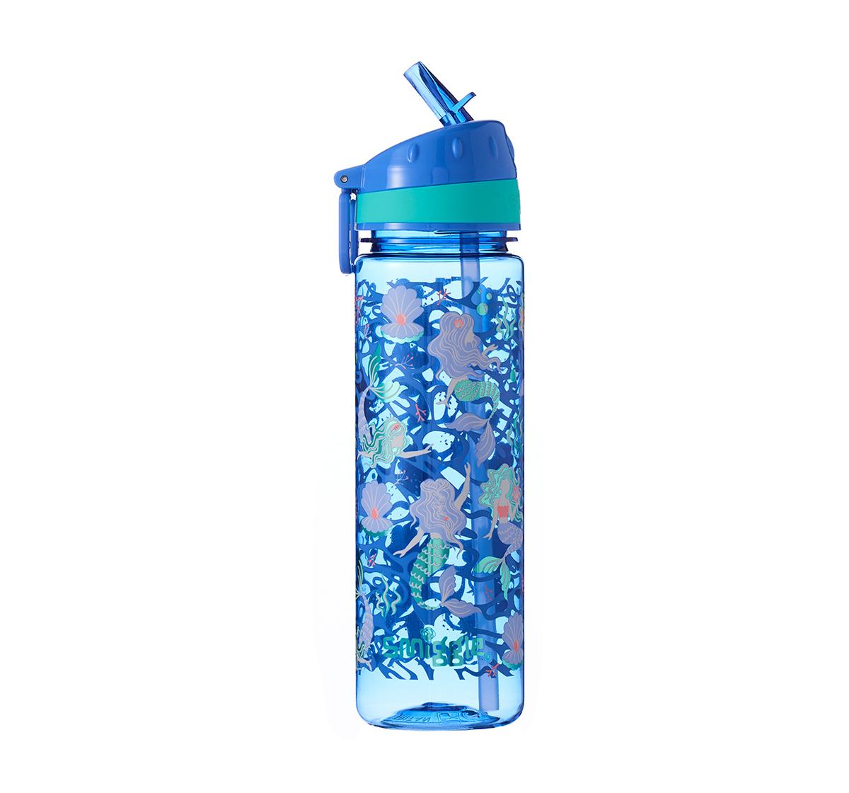 Smiggle |  Smiggle Flow Drink Bottle with Flip Top Spout Mermaid Print Bags for Kids age 3Y+ (Cornflower Blue)