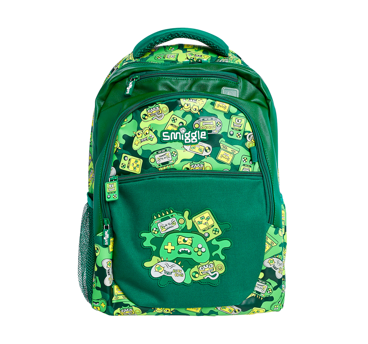 Smiggle   Smiggle Far Away Backpack - Gaming Print Bags for Kids age 3Y+ (Green)