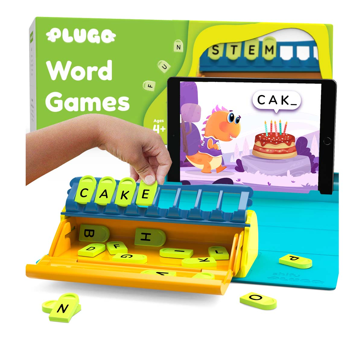 Playshifu | Plugo Letters - Word Building with Stories & Puzzles Games for Kids age 4Y+