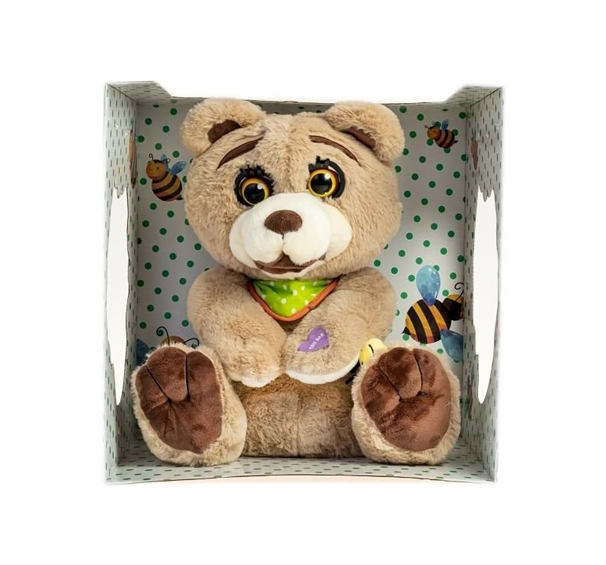 Dimian | Dimian Hugo Bear Story Telling Interactive Soft Toy for Kids age 3Y+ - 42 Cm (Brown)