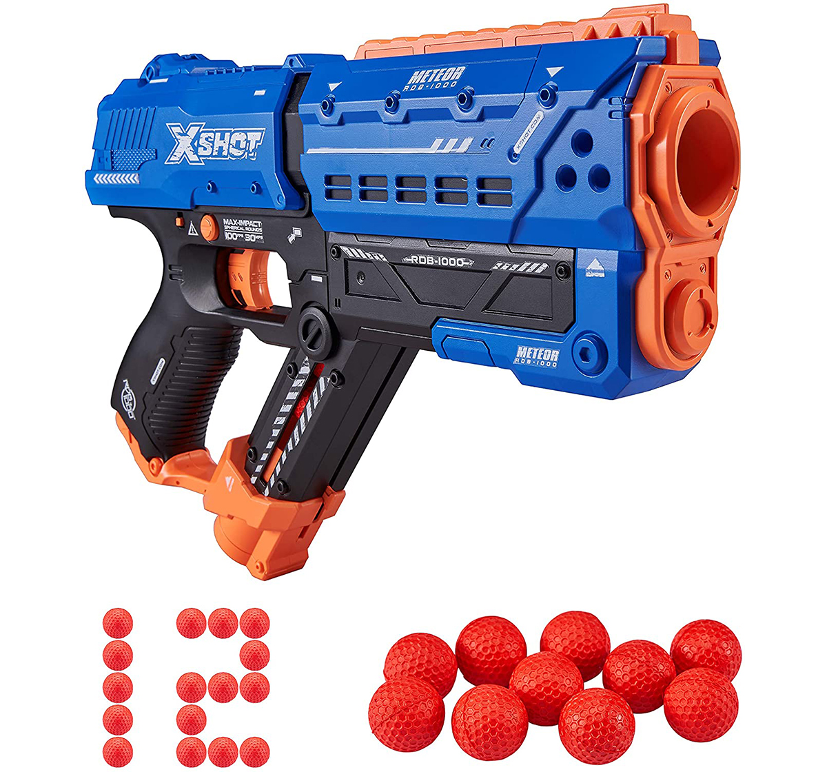 X-Shot | X-Shot Chaos Meteor Blaster with 12 Dart Balls  Blasters for Kids age 14Y+