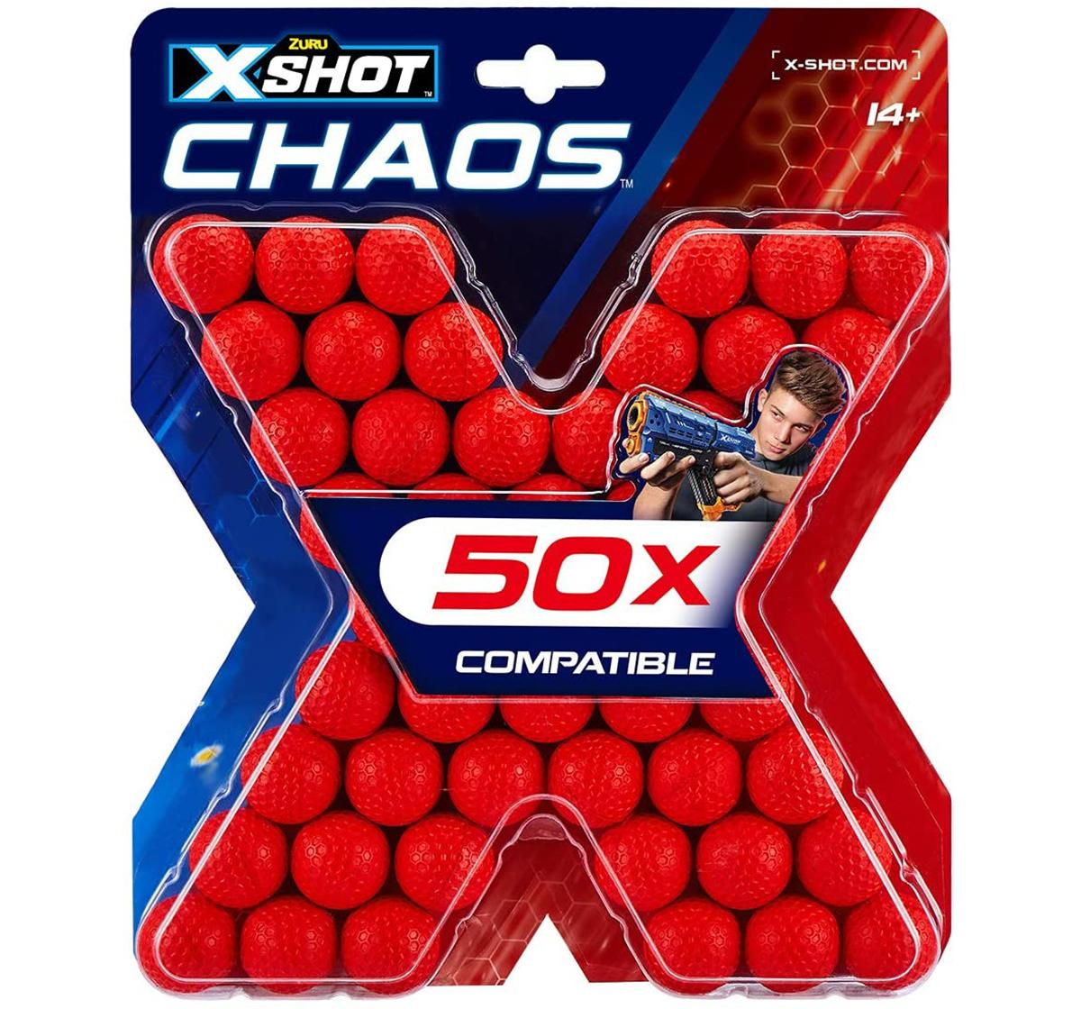 X-Shot | X-Shot Chaos 50 Dart Balls Refill Pack Blasters for Kids age 14Y+