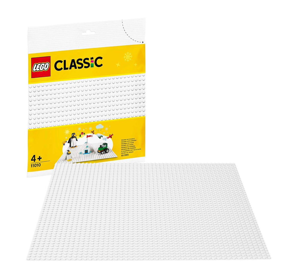 LEGO |  Lego Classic White Baseplate 11010 Blocks for Kids age 4Y+