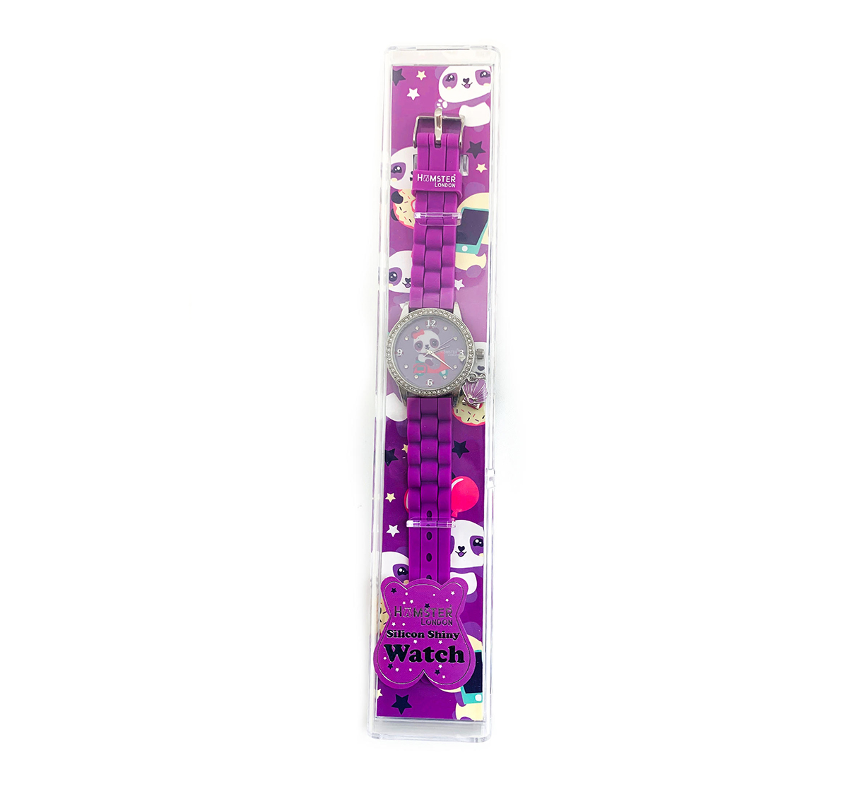 Hamster London | Hamster London Diamond Studded Panda Watch for Kids age 3Y+ (Purple)