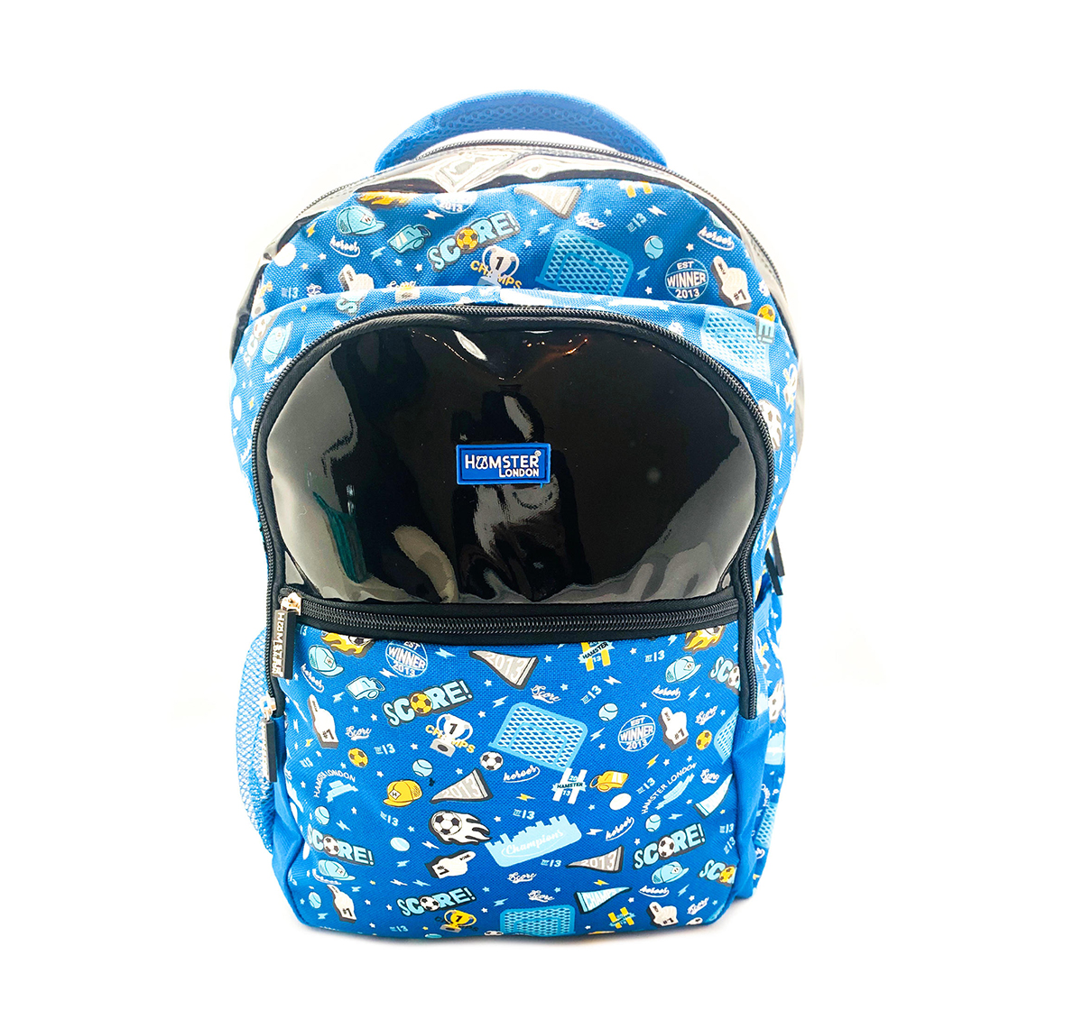 Hamster London | Hamster London Soccer Theme Big Backpack for Boys age 3Y+ (Blue)