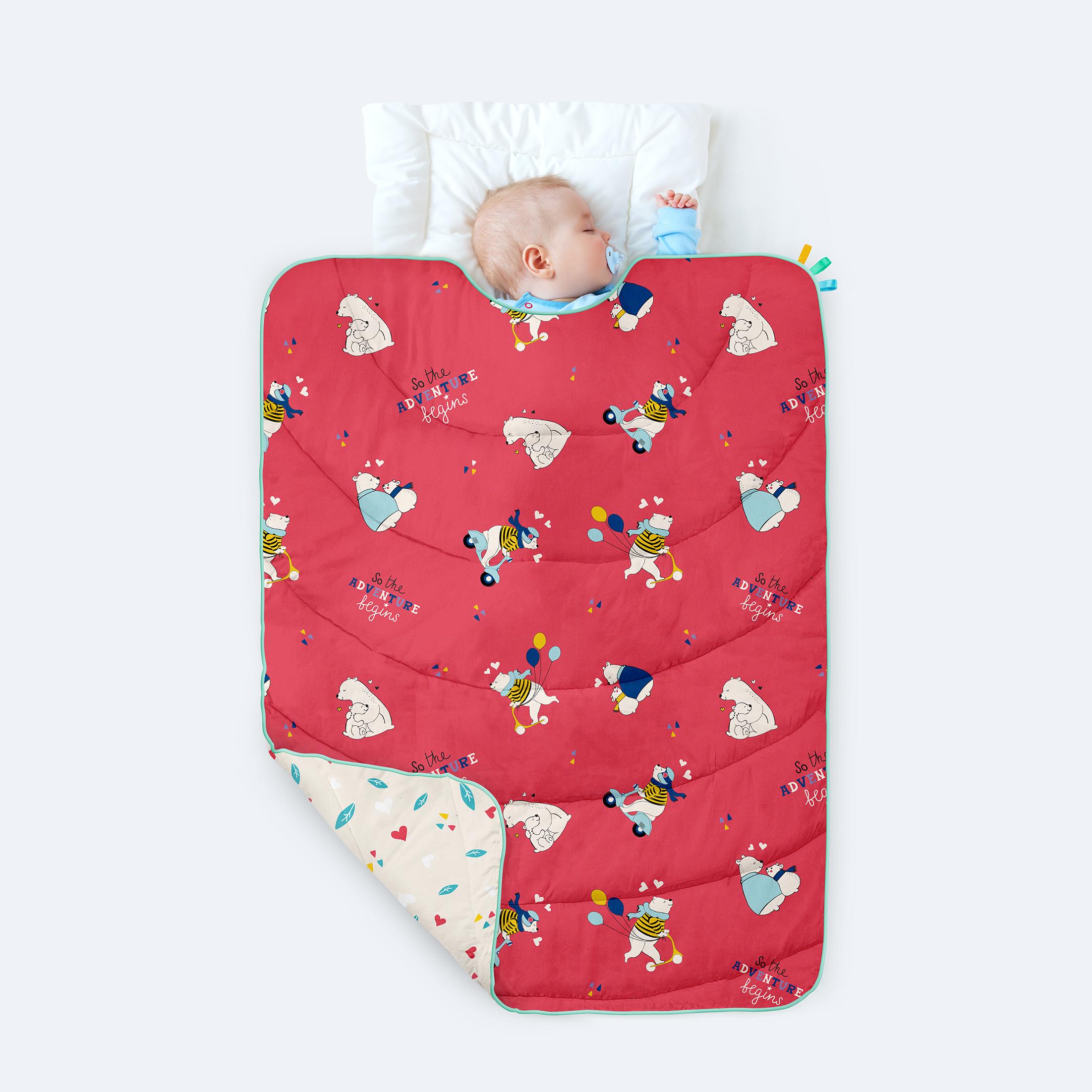 Mothercare | Rabitat 100% Organic Cotton All Weather Quilt - Adventure Begins