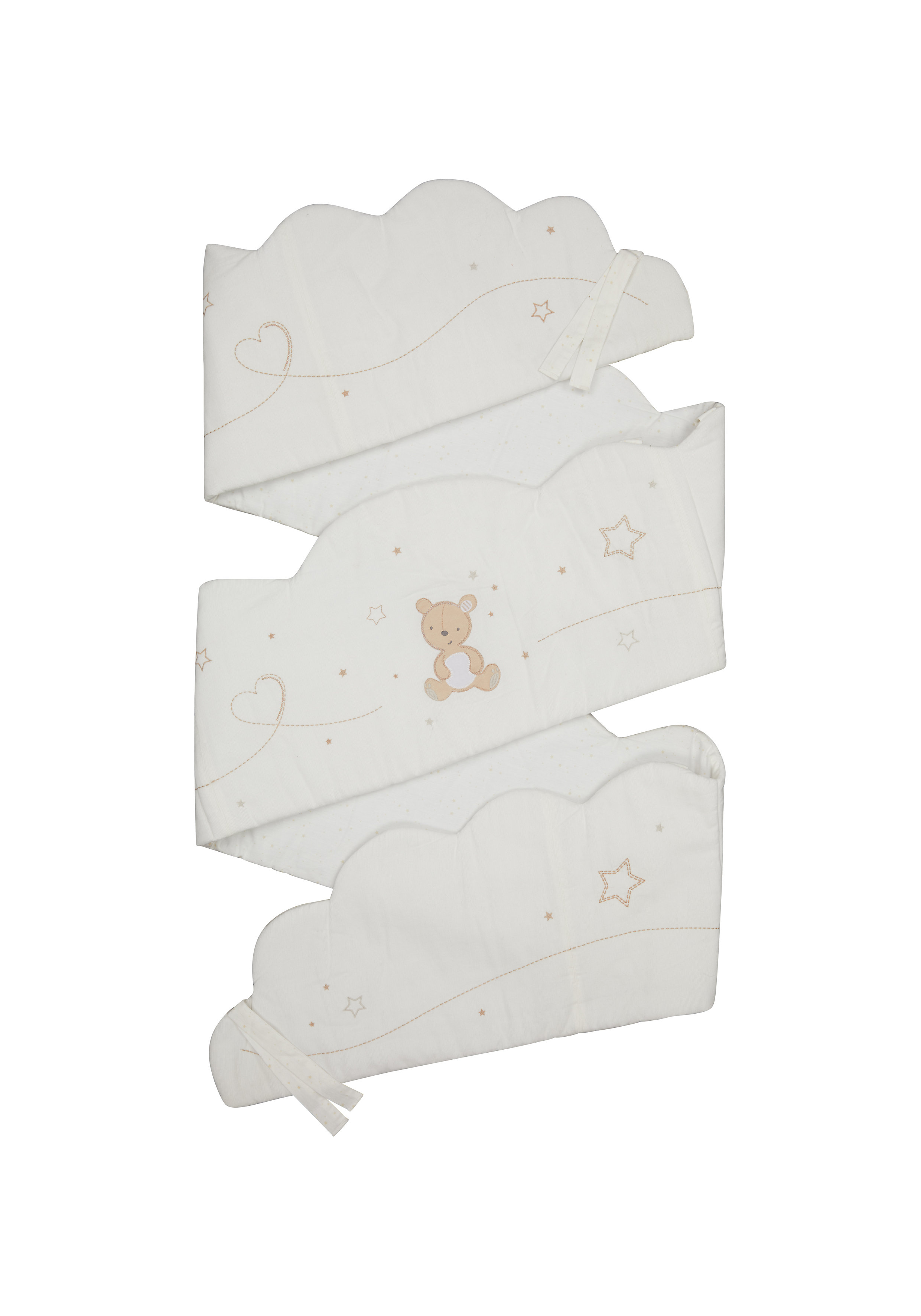 Mothercare | Mothercare Little & Loved Long Bumper r Cream