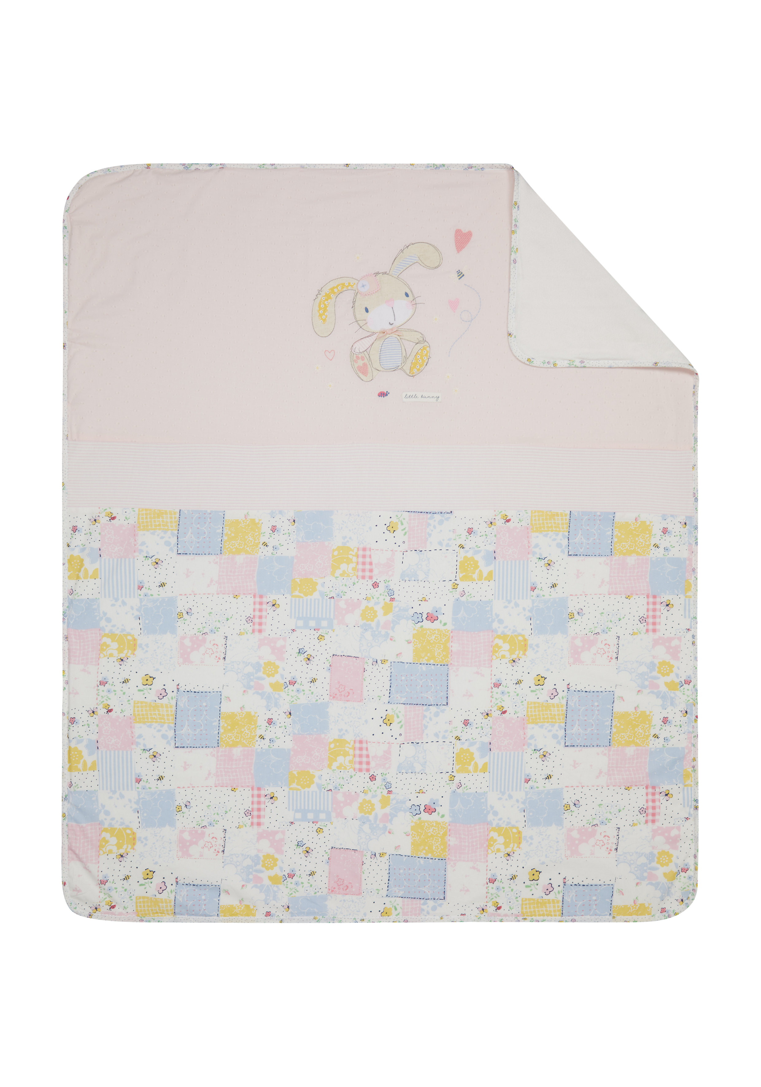 Mothercare | Mothercare Spring Flower Coverlet  Blanket Pink