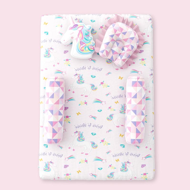 Mothercare | Fancy Fluff 5 Piece Organic Baby Mattress Set - Unicorn