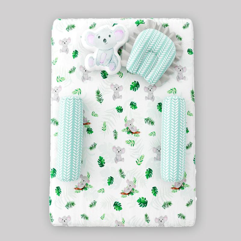 Mothercare | Fancy Fluff 5 Piece Organic Baby Mattress Set - Koala