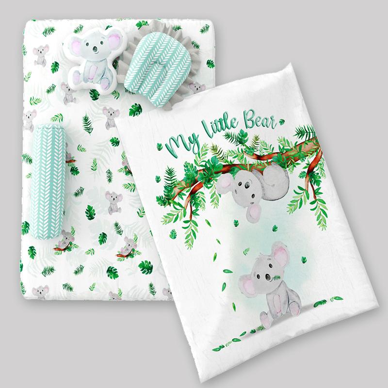 Mothercare | Fancy Fluff 6 Piece Organic Baby Mattress Set - Koala