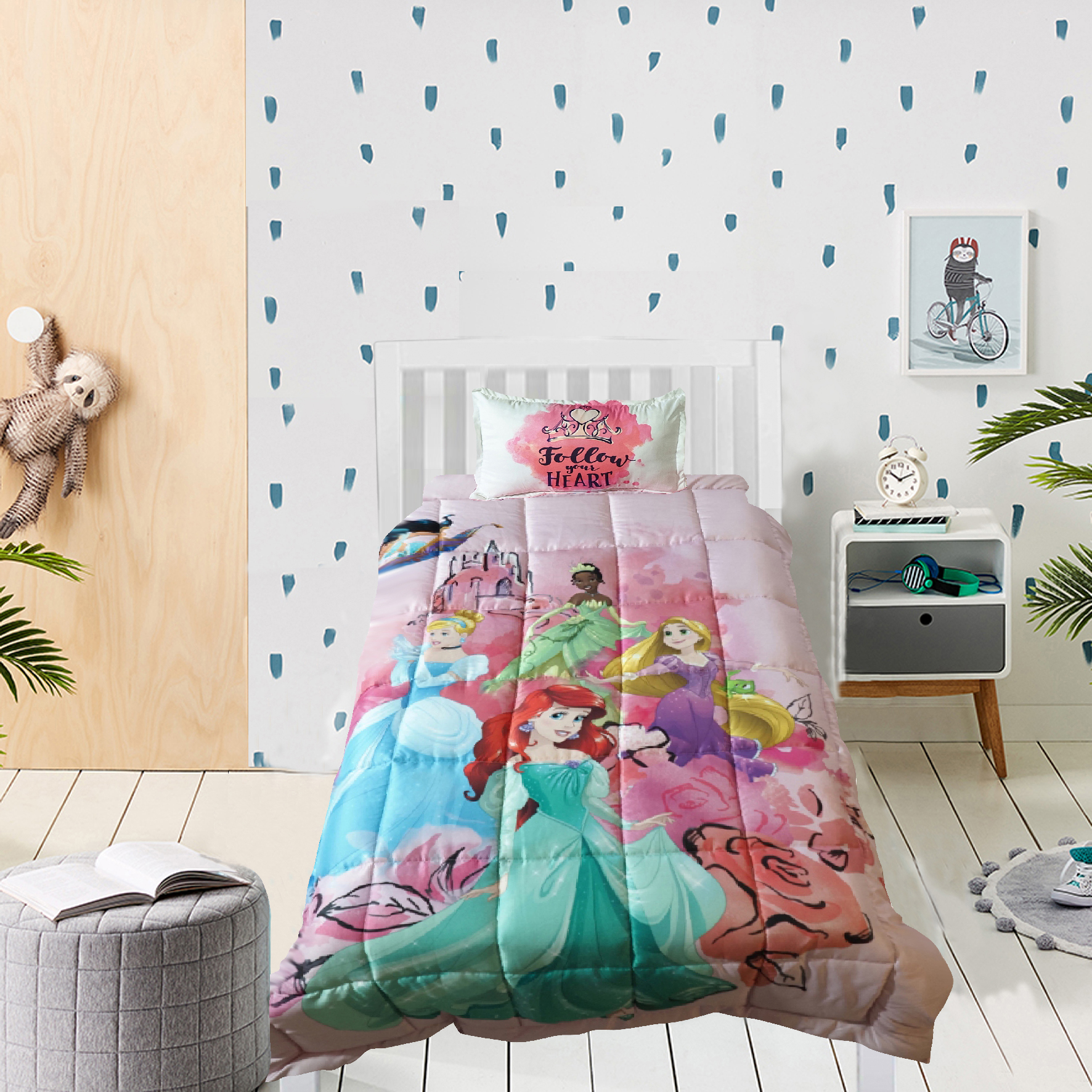 Mothercare | Wiggle wink Princess Heart  Single comforter