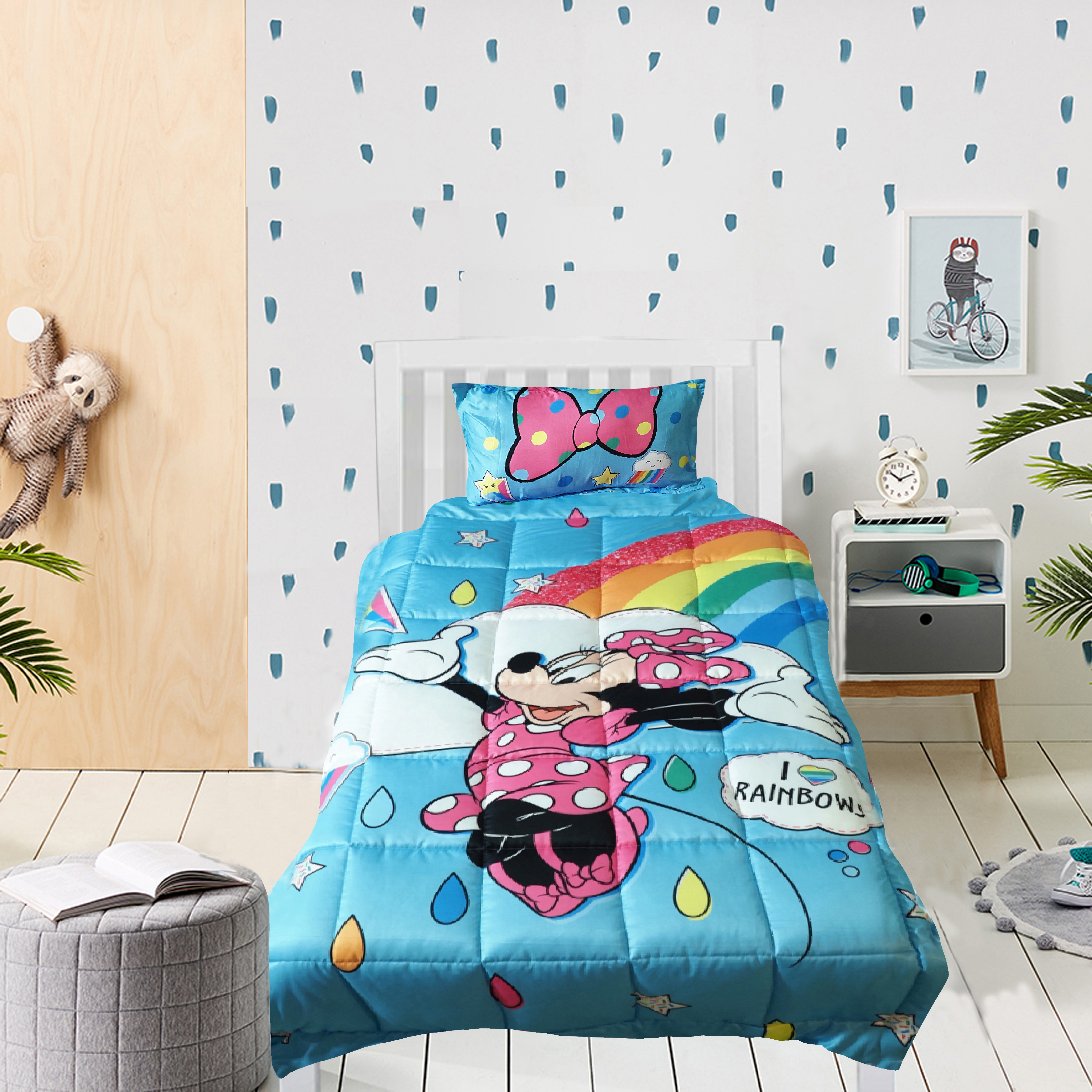 Mothercare | Wiggle wink Minnie Mouse Rainbows  Single comforter