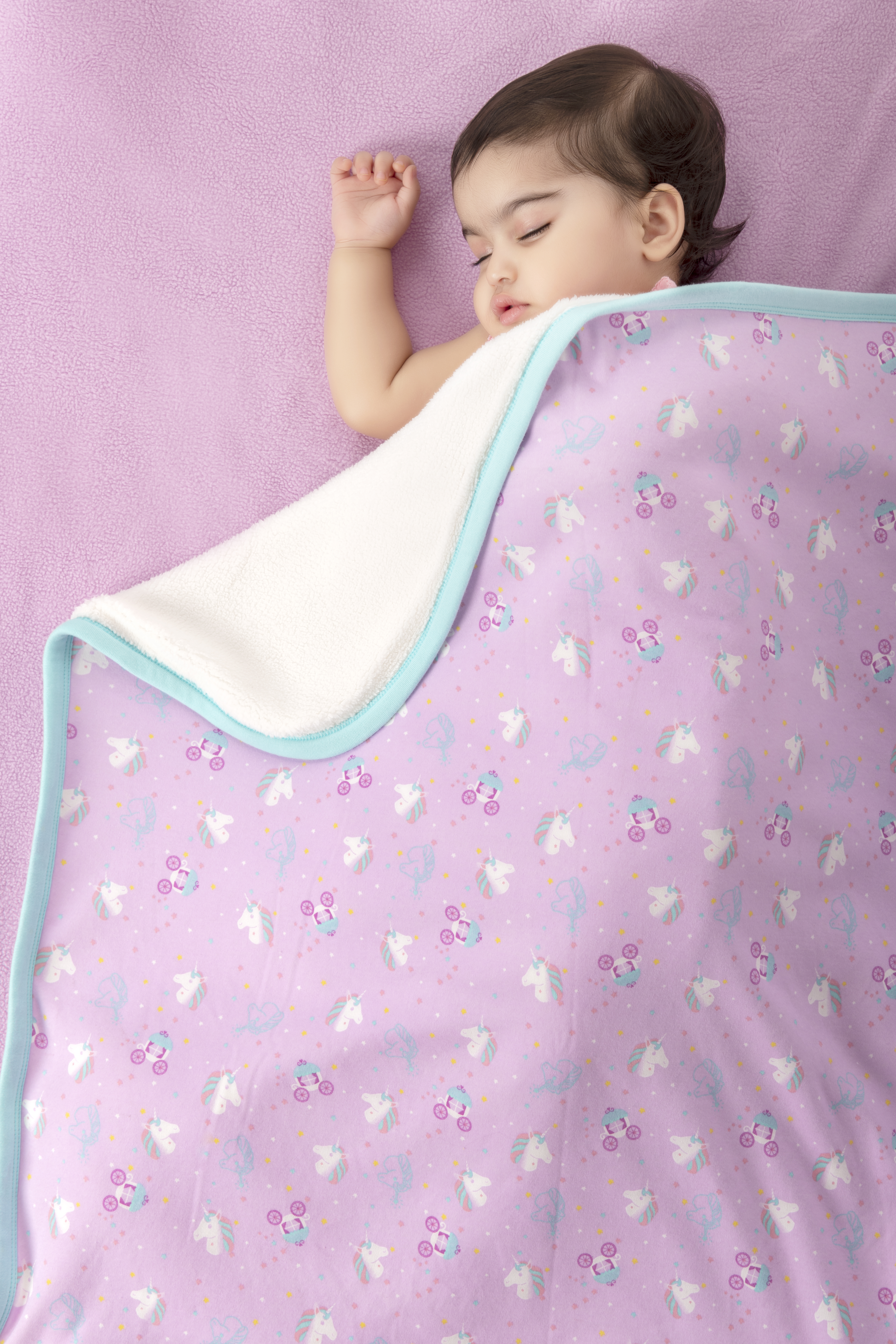 Mothercare | Mi Arcus Premium Organic Cotton Noah Interlock Blanket Pink