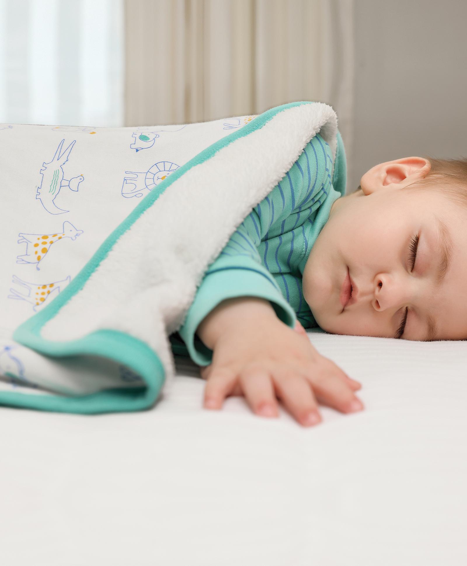 Mothercare   Mi Arcus Premium Organic Cotton Noah Interlock Blanket Multi