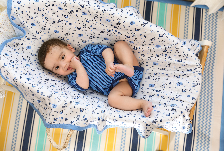 Mothercare | Mi Arcus Premium Organic Cotton Coming Home Interlock Blanket Multi