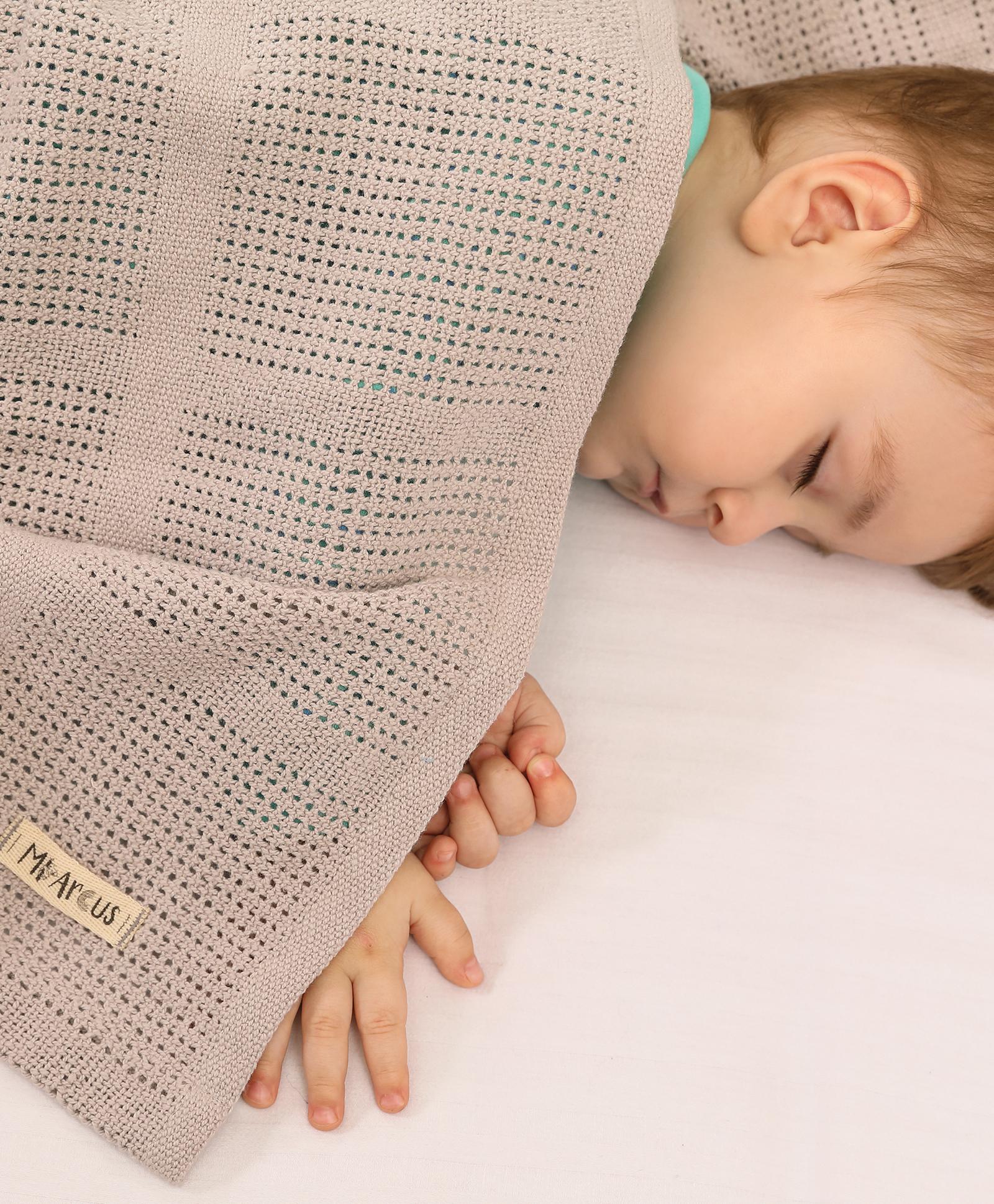 Mothercare | Mi Arcus Premium Organic Cotton Pixie Leno Blanket Brown